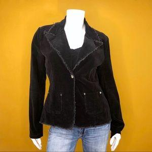BLUENOTES Black Corduroy Blazer Jacket Large